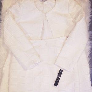 Tahari White Skirt Suit